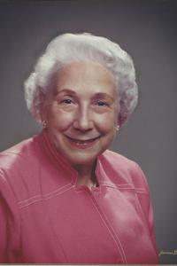 Solo picture of Mrs. Bobbie Rainy Sublett in her elderly years wearing pink and smiling