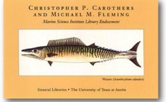 Picture of a fish with the names Christopher P. Carothers and Michael M. Fleming spelled up above